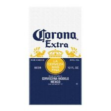 Corona Extra Beer Label Beach Towel Blue