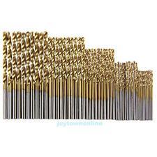 50Pcs Titanium Coated HSS High Speed Steel Twist Drill Bit Set Tool 1mm-3mm