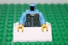 Medium Blue Torso Police Shirt with Dark Bluish Gray Vest- City -  Lego