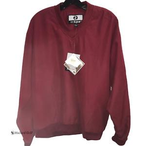 ixspa Long Sleeve V-Neck Pullover Sweater Sweatshirt [Garnet] Size Large