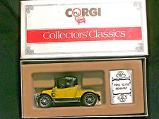 CORGI COLLECTORS CLASSICS C862/1. 1910 RENAULT 12/16. YELLOW BLACK HOOD. BOXED.