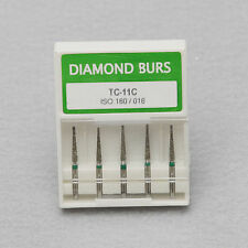 50pcs Dental Taper Conical End Diamond Burs High Handpiece Medium FG1.6 TC-11C S