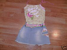 "Baby Sara Sara Sara ""Rose Garden"" Denim Jean Dress 4T"
