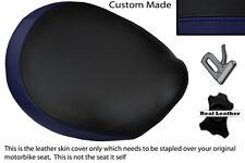 BLACK & NAVY BLUE CUSTOM FITS TRIUMPH THUNDERBIRD 1600 1700 FRONT SEAT COVER