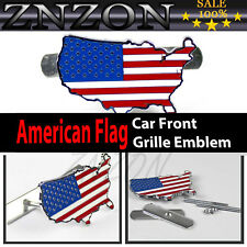 HOT America flag Front Grill Badge Car Truck Auto Metal Logo Grille Emblem