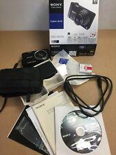 Sony Cyber-Shot DSC-WX10 Digital Camera +Charger + OEM Battery+ Memory Card Case