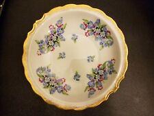 "Vintage Royal Crown Hand Painted 44/108 Blue floral  Veggie Bowl 7 1/8"""