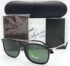 NEW PERSOL sunglasses PO3173S 95/58 54 Black Polarized 3173 GENUINE Calligrapher