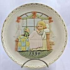 "Mabel Lucie Attwell 1994 Christmas Plate 8.5"" Gorgeous Matte Finish Collectible"