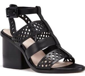 Mimco 💖New $249 Rhythm Leather Heels Wedges Shoes Sandals 38 Or 7
