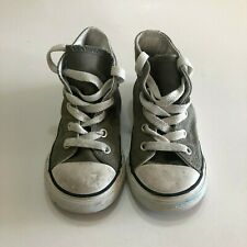 CONVERSE High Top Canvas Unisex Gray Chucks Kids Sneakers Shoes Size 8