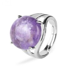 Natural Stone Ring Women Finger Rings Round Beads Jewelry Crystal Lady Accessory