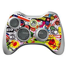 wp1 Skull X Graffiti sticker cover case for xbox360 slim controller gamepad skin