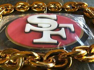 Fan Foam - 3D Lightweight Magnetic Medallion & Neck Chain - San Francisco 49ers