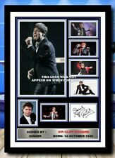More details for (486) cliff richard signed a4 photo/framed/unframed (reprint) great gift @@@@@@@