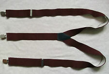 Braces Suspenders Mens Vintage CLIP ON 1980s STOCKBROKER