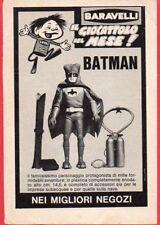 Paginetta pubblicitaria Advertising 1967 BARAVELLI Batman/EDISON Jaguarmatic