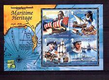 GIBRALTAR 1999 Maritime min sheet MUH
