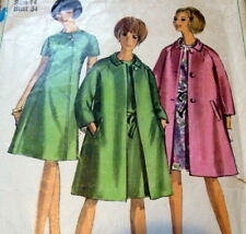 LOVELY VTG 1960s DRESS & COAT Sewing Pattern 14/34