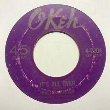 northern soul 45 WALTER JACKSON It's All Over OKEH listen
