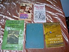 Lot 5 Natural History Books Stephen Jay Gould, John Burroughs, Eiseley, Bateson