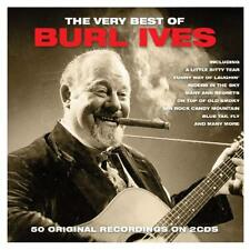 Very Best of Burl Ives 50 Tracks on 2 CDs Riders in the Sky Blue Tail Fly Delia