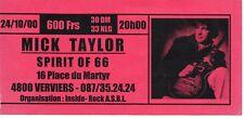 Ticket Concert: Mick Taylor  (24/10/2000) Spirit of 66 Verviers