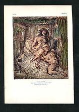"""""""Simson und Delila"""" - Nach einer Zeichnung von Alfred Kubin  (J-BE3)"""