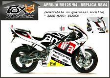ADESIVI stickers moto  bike KIT per APRILIA RS 125 1994 replica rsv4