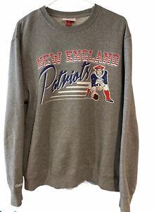 Mitchell & Ness New England Patriots Training Room Grey Crew Neck Sweatshirt Lge