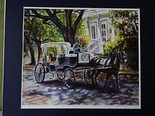 Baton Rouge, Louisiana, By Andrea F. Phillips. Horse Carriage. Original Painting