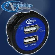 USB DUAL FLUSH MOUNT CHARGER SOCKET 12V DC iPHONE iPAD iPOD 4X4 4WD 5V POWER