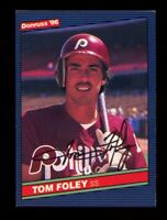 Tom Foley Autograph Signed 1986 Donruss Phillies