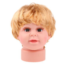 Baby Child Kid Mannequin Head Model With Wig for Hat Caps Sunglasses Display