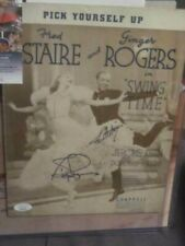 """Fred Astaire & Ginger Rogers Hollywood Autograph """"Pick Yourself Up"""" Sheet Music"""