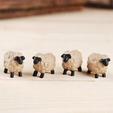"MINIATURE GARDEN MICRO ""SET OF 4 SHEEP"" NEW, FAIRY, TERRARIUM, DOLLHOUSE"