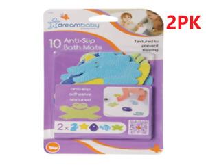 2PK Non Slip Decal Sticker Strips Bathtub 10 Set  Shower Bath Tub Bathroom Kids