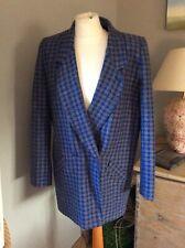 Tweed Oversided Boxy Blazer Jacket 12 Vintage Alexon Wool Coat 80's Retro