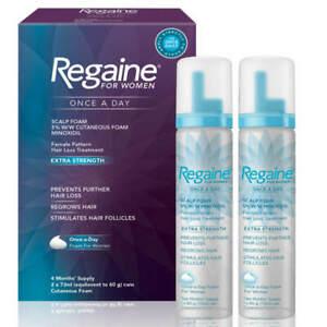 Regaine for Women - Hair Loss & Regrowth Scalp Foam Treatment - 2x73ml - 4 Month