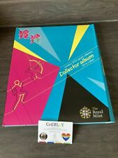LONDON 2012 OLYMPIC GAMES 50p SPORTS COLLECTOR ALBUM IN OK USED CONDITION...