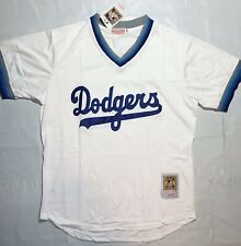 Los Angeles Dodgers Vintage Throwback White Jersey Shirt Medium Script Brooklyn
