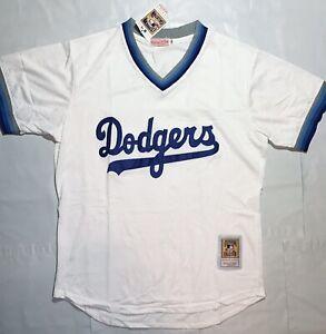 Los Angeles Dodgers Vintage Throwback White Jersey Shirt Medium Brooklyn