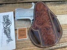 "Beautiful El Paso Saddlery Fancy Carved Holster for Colt 1911 Commander 4 1/4"""