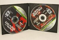 Gears of War Platinum Hits 2-Disc Set (Microsoft Xbox 360, 2009) Disc Only