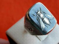 Turkish Handmade Jewelry 925 Silver İslamic Men's Women Ring Size 6-10