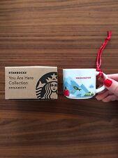 Starbucks You Are Here Washington Ornament 2 oz Demi Cup Espresso YAH WA