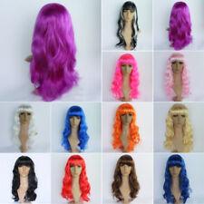 pour femmes longue bouclée Cosplay fête Perruques COMPLET cheveux ondulée cotume
