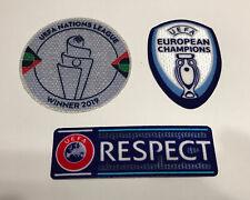 European Nations league Winner Euro 2020 Championship Patch Badge set Portugal