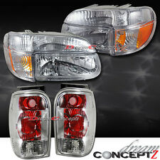 Ford Explorer Headlights w. Corner Lights + Tail lights Combo Chrome Style