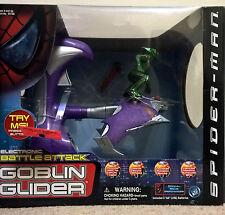 Marvel Spiderman electronic Battle Attack Green Goblin glider rare